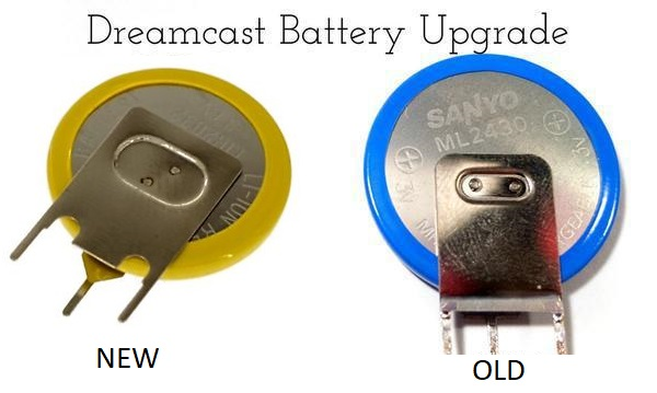 Sega Dreamcast CMOS Battery Mod
