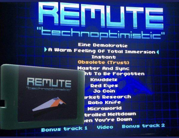 Technoptimistic by Remute - Sega Game Cartridge