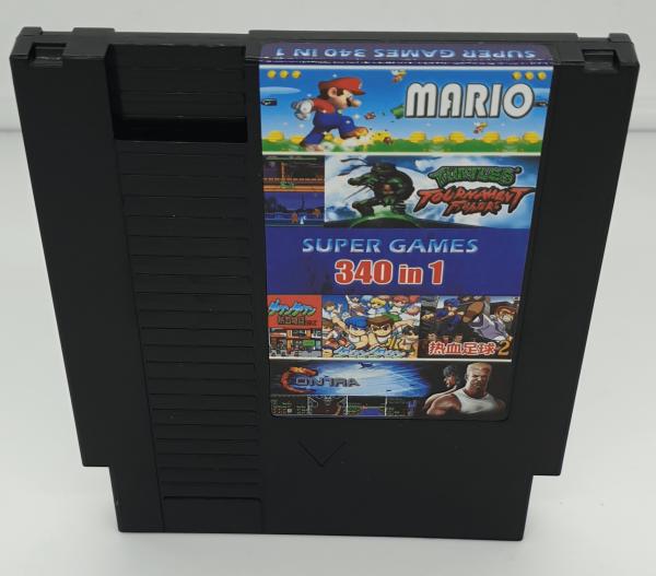 340 in 1 NES Multicart Video Game Cartridge